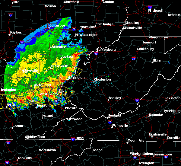 Radar Image for Severe Thunderstorms near Gallipolis, OH at 7/13/2015 3:52 PM EDT