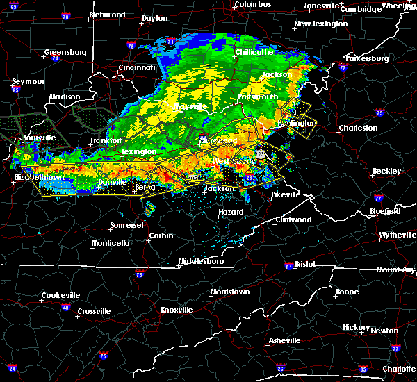 Radar Image for Severe Thunderstorms near Stanton, KY at 7/13/2015 3:55 PM EDT