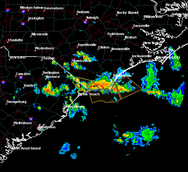 Radar Image for Severe Thunderstorms near Loris, SC at 7/13/2015 4:02 PM EDT