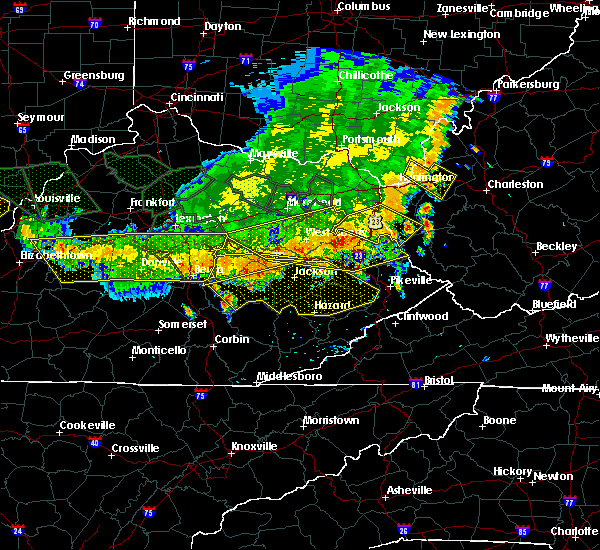 Radar Image for Severe Thunderstorms near Mackville, KY at 7/13/2015 4:09 PM EDT