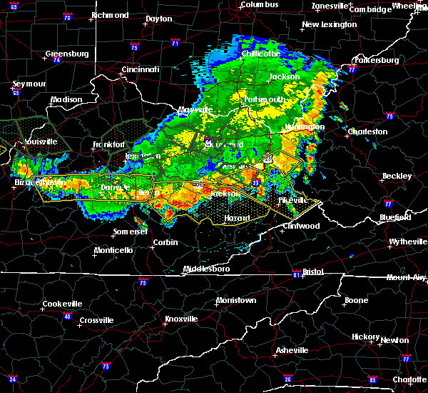 Radar Image for Severe Thunderstorms near Warfield, KY at 7/13/2015 4:18 PM EDT