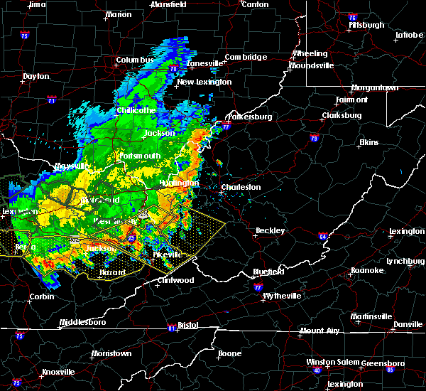 Radar Image for Severe Thunderstorms near Kermit, WV at 7/13/2015 4:25 PM EDT