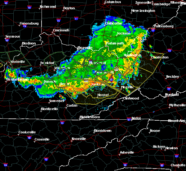 Radar Image for Severe Thunderstorms near McKee, KY at 7/13/2015 4:28 PM EDT