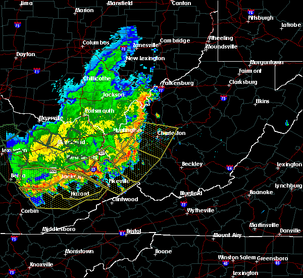 Radar Image for Severe Thunderstorms near Belle, WV at 7/13/2015 4:29 PM EDT