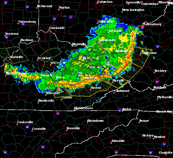 Radar Image for Severe Thunderstorms near Warfield, KY at 7/13/2015 4:52 PM EDT