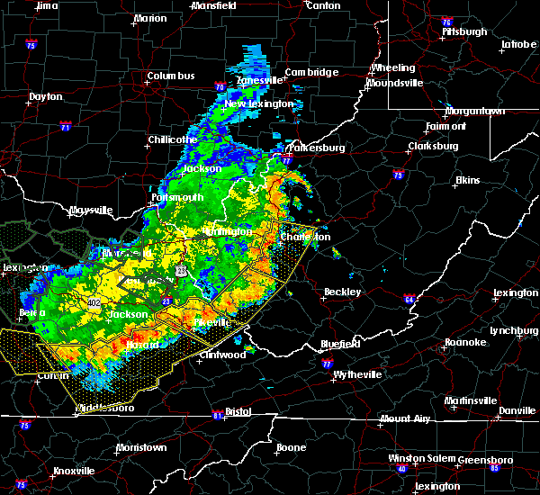 Radar Image for Severe Thunderstorms near Justice, WV at 7/13/2015 5:08 PM EDT