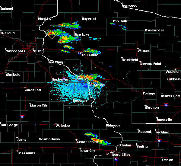 Radar Image for Severe Thunderstorms near Onalaska, WI at 7/13/2015 4:11 PM CDT
