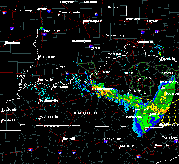 Radar Image for Severe Thunderstorms near Loretto, KY at 7/13/2015 5:14 PM EDT