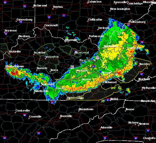 Radar Image for Severe Thunderstorms near Blackey, KY at 7/13/2015 5:26 PM EDT