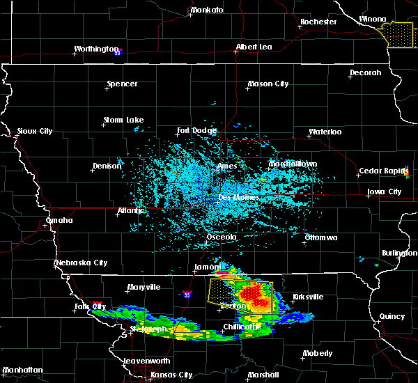Radar Image for Severe Thunderstorms near Clio, IA at 7/13/2015 4:45 PM CDT