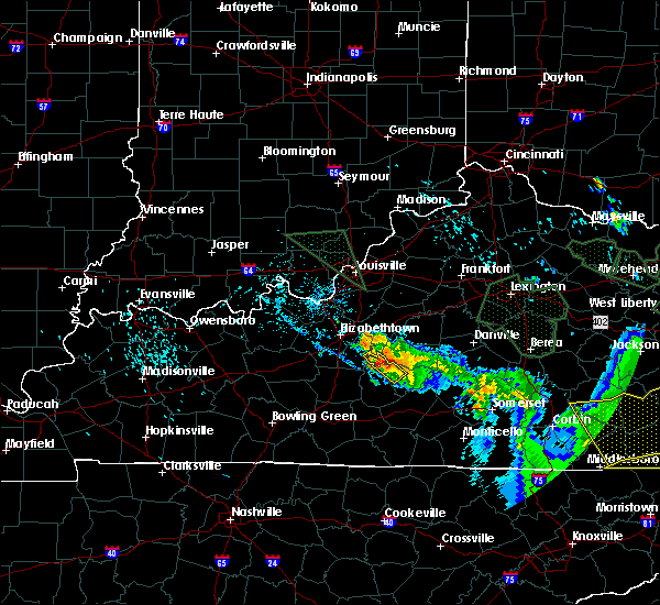 Radar Image for Severe Thunderstorms near Campbellsville, KY at 7/13/2015 5:49 PM EDT