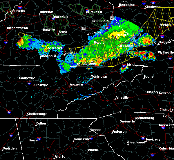 Radar Image for Severe Thunderstorms near Harrogate, TN at 7/13/2015 5:55 PM EDT