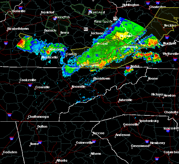 Radar Image for Severe Thunderstorms near Bristol, VA at 7/13/2015 5:56 PM EDT