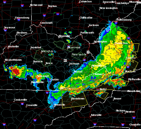 Radar Image for Severe Thunderstorms near Harrogate, TN at 7/13/2015 6:08 PM EDT