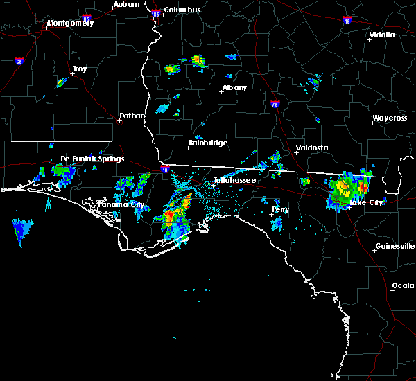 Radar Image for Severe Thunderstorms near Tallahassee, FL at 7/13/2015 6:12 PM EDT