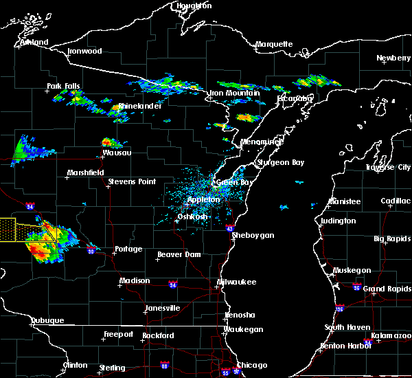 Radar Image for Severe Thunderstorms near Aniwa, WI at 7/13/2015 5:11 PM CDT
