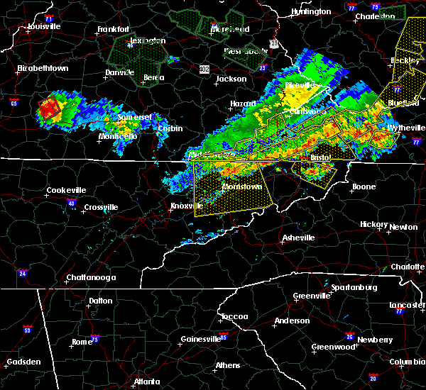 Radar Image for Severe Thunderstorms near Harrogate, TN at 7/13/2015 6:18 PM EDT