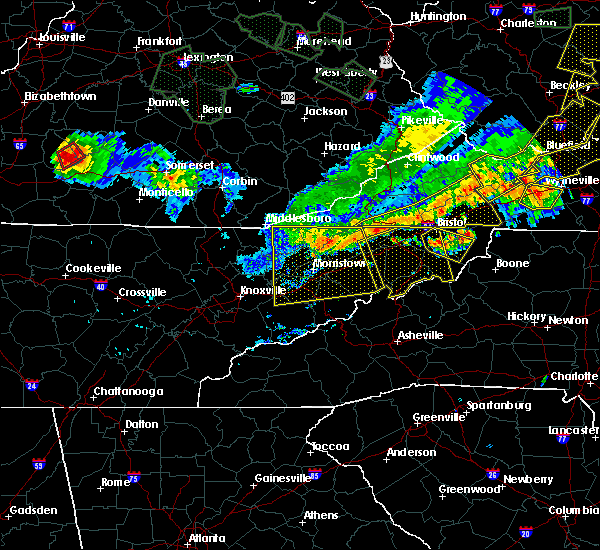 Radar Image for Severe Thunderstorms near Bristol, VA at 7/13/2015 6:25 PM EDT