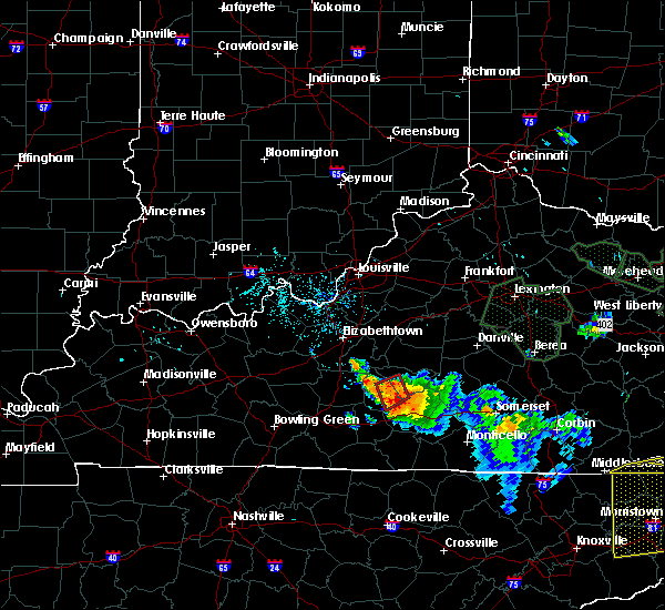 Radar Image for Severe Thunderstorms near Columbia, KY at 7/13/2015 5:29 PM CDT