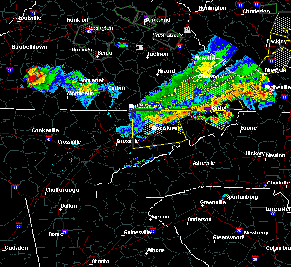 Radar Image for Severe Thunderstorms near Bristol, VA at 7/13/2015 6:29 PM EDT