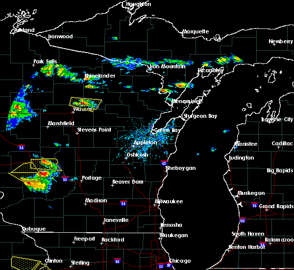 Radar Image for Severe Thunderstorms near Aniwa, WI at 7/13/2015 5:30 PM CDT