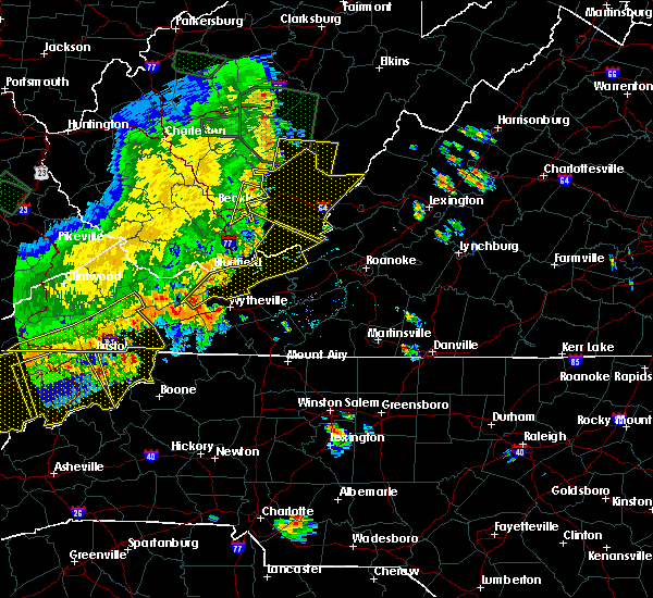 Radar Image for Severe Thunderstorms near Hiwassee, VA at 7/13/2015 6:35 PM EDT
