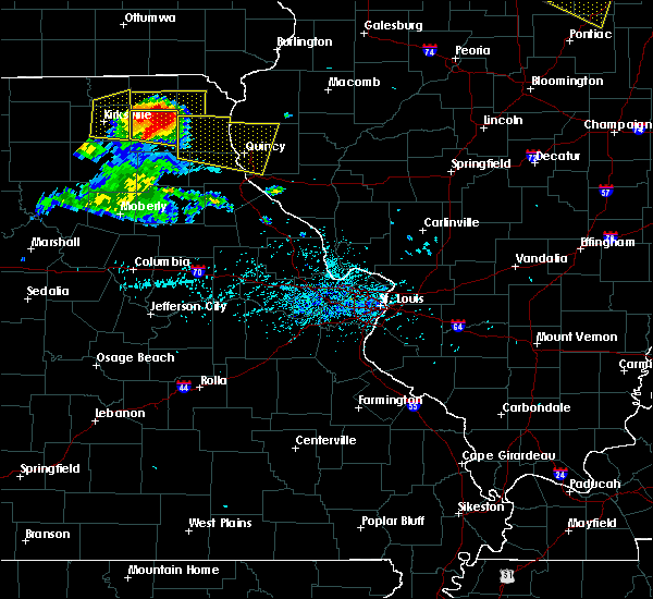 Radar Image for Severe Thunderstorms near Quincy, IL at 7/13/2015 5:40 PM CDT
