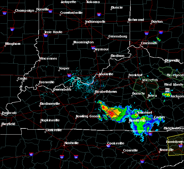 Radar Image for Severe Thunderstorms near Columbia, KY at 7/13/2015 5:42 PM CDT