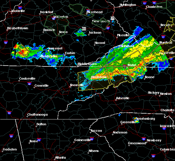 Radar Image for Severe Thunderstorms near Morristown, TN at 7/13/2015 6:52 PM EDT