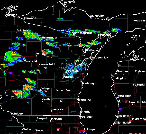 Radar Image for Severe Thunderstorms near Aniwa, WI at 7/13/2015 5:53 PM CDT