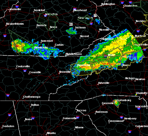 Radar Image for Severe Thunderstorms near Crossnore, NC at 7/13/2015 7:02 PM EDT