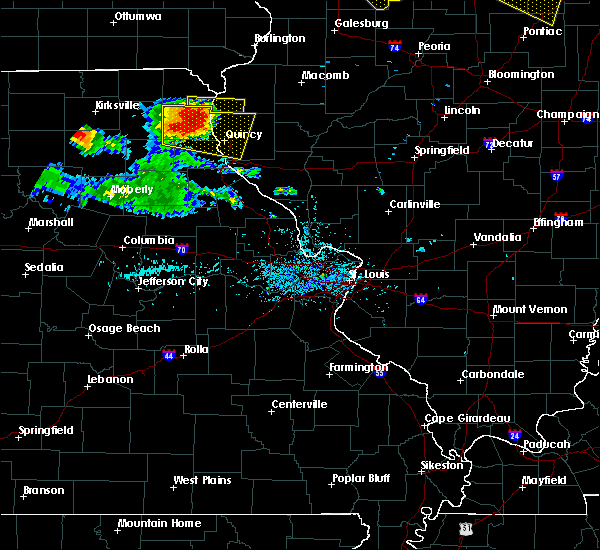 Radar Image for Severe Thunderstorms near Quincy, IL at 7/13/2015 6:07 PM CDT