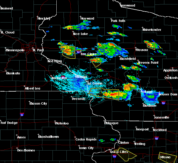 Radar Image for Severe Thunderstorms near Downsville, WI at 7/13/2015 6:06 PM CDT