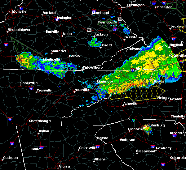 Radar Image for Severe Thunderstorms near Unicoi, TN at 7/13/2015 7:19 PM EDT