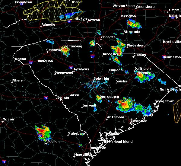 Radar Image for Severe Thunderstorms near Eutawville, SC at 7/13/2015 7:28 PM EDT