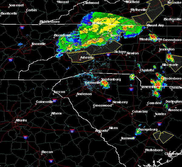 Radar Image for Severe Thunderstorms near Biltmore Forest, NC at 7/13/2015 7:32 PM EDT