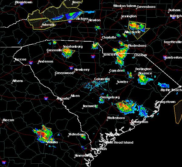 Radar Image for Severe Thunderstorms near Eutawville, SC at 7/13/2015 7:44 PM EDT