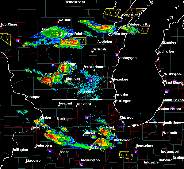 Radar Image for Severe Thunderstorms near Arena, WI at 7/13/2015 6:48 PM CDT