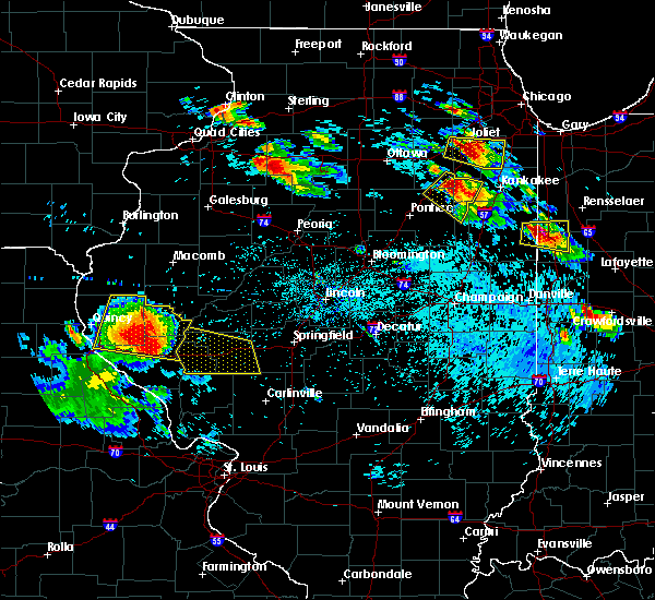 Radar Image for Severe Thunderstorms near Plainville, IL at 7/13/2015 6:51 PM CDT