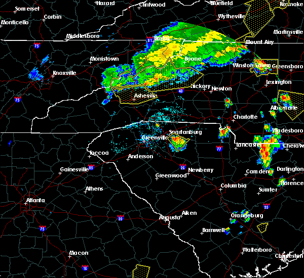 Radar Image for Severe Thunderstorms near Swannanoa, NC at 7/13/2015 7:51 PM EDT