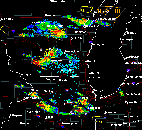 Radar Image for Severe Thunderstorms near Arena, WI at 7/13/2015 6:59 PM CDT