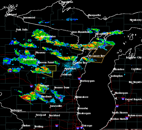 Radar Image for Severe Thunderstorms near King, WI at 7/13/2015 7:01 PM CDT