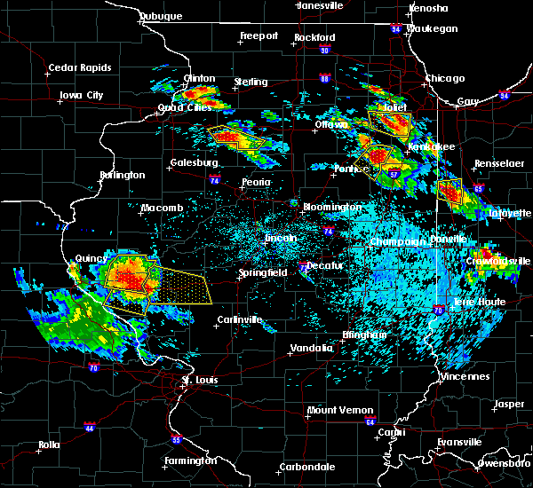 Radar Image for Severe Thunderstorms near New Salem, IL at 7/13/2015 7:09 PM CDT