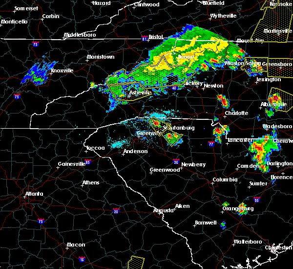 Radar Image for Severe Thunderstorms near Taylorsville, NC at 7/13/2015 8:09 PM EDT