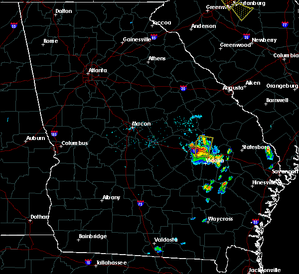 Radar Image for Severe Thunderstorms near Norristown, GA at 7/13/2015 8:12 PM EDT