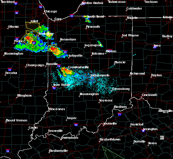 Radar Image for Severe Thunderstorms near Otterbein, IN at 7/13/2015 8:18 PM EDT