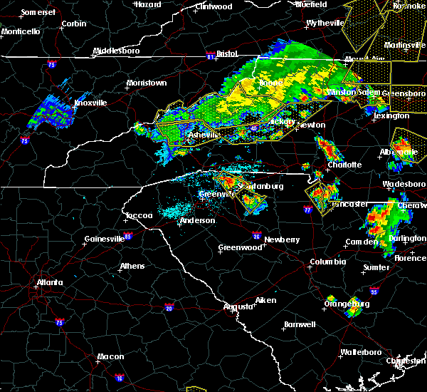 Radar Image for Severe Thunderstorms near Spindale, NC at 7/13/2015 8:19 PM EDT