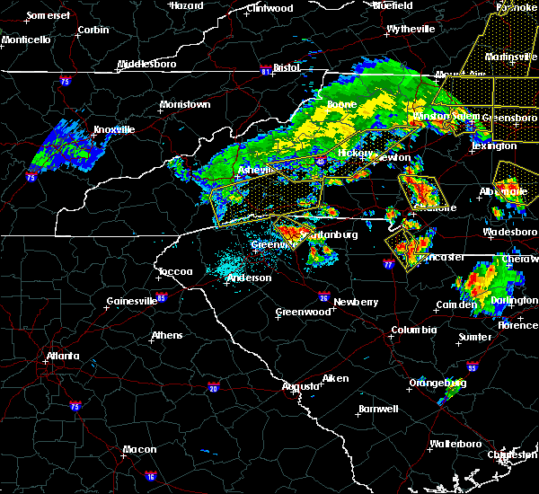 Radar Image for Severe Thunderstorms near Charlotte, NC at 7/13/2015 8:30 PM EDT