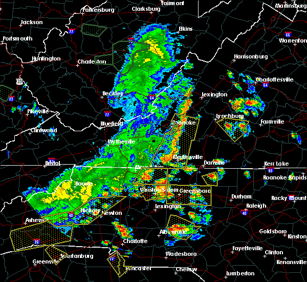 Radar Image for Severe Thunderstorms near Eden, NC at 7/13/2015 8:29 PM EDT