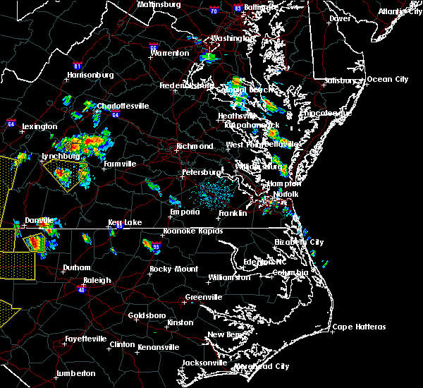 Radar Image for Severe Thunderstorms near Dillwyn, VA at 7/13/2015 8:35 PM EDT